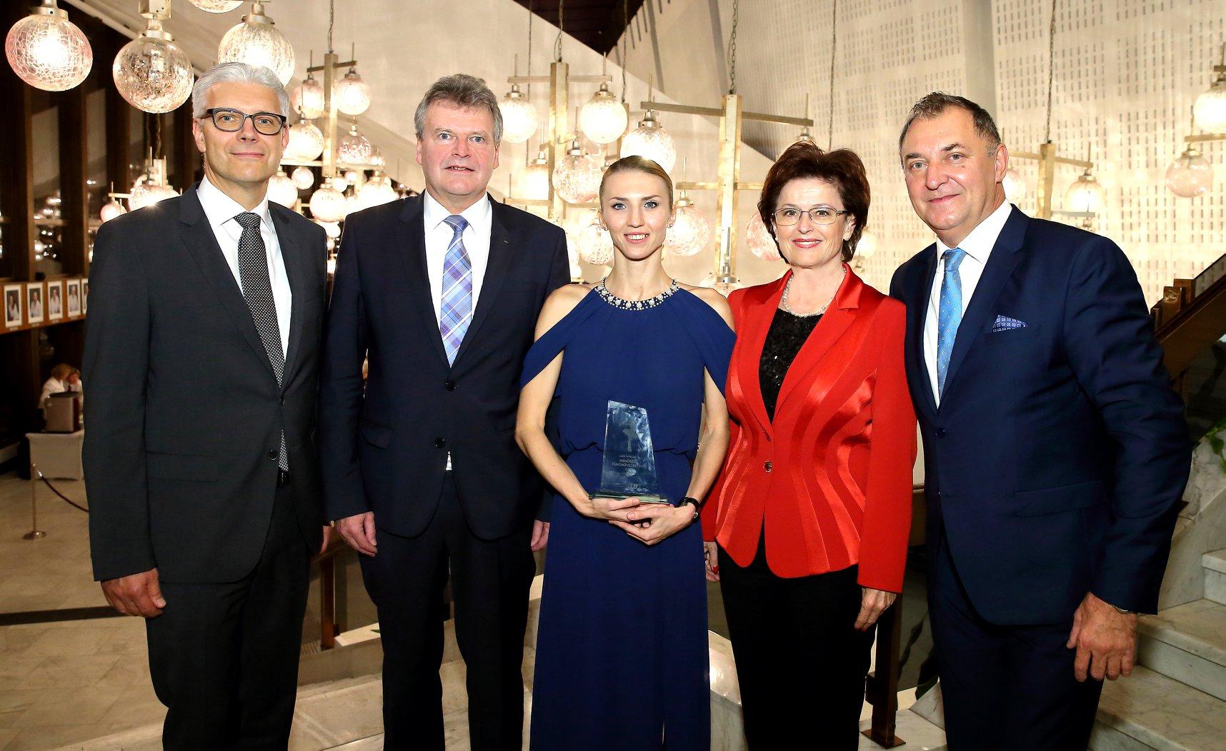 Tetiana Baranovska AUDI Hungaria Minőségi táncművészetért díjat vehetett át